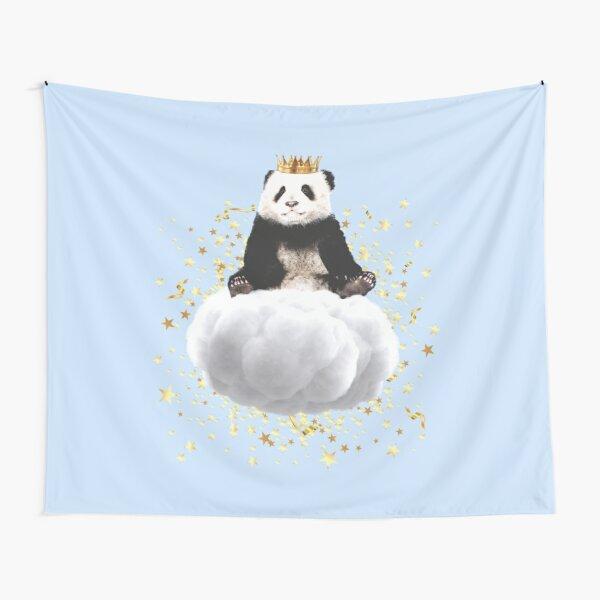 Panda cloud with the stars Tapestry