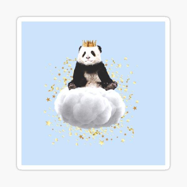 Panda cloud with the stars Sticker