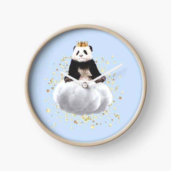 Panda cloud with the stars Clock