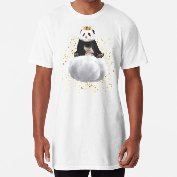 Panda cloud with the stars Long T-Shirt