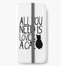 Vinilo o funda para iPhone Todo lo que necesitas es amor y un gato