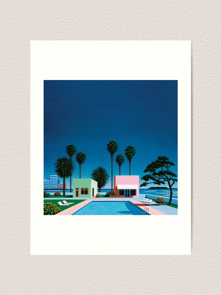 Alternate view of Hiroshi Nagai Art Print Poster Vaporwave Shirt Wallpaper Art Print