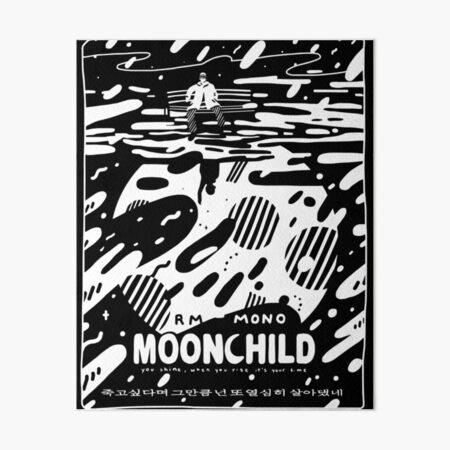 "☾ RM - MONO - ""Moonchild"" ☽ Art Board Print"
