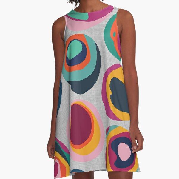 Rainbow Resin A-Line Dress