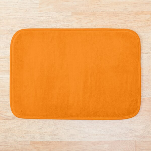 Orange orange Bath Mat