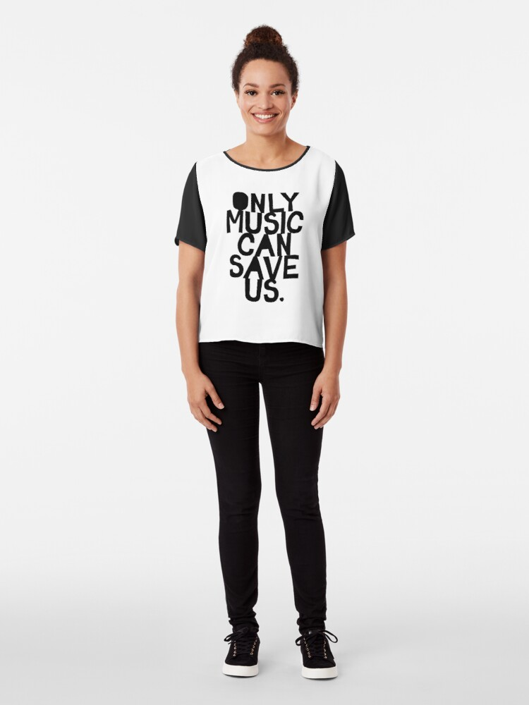 Alternate view of Only Music Can Save Us! Chiffon Top