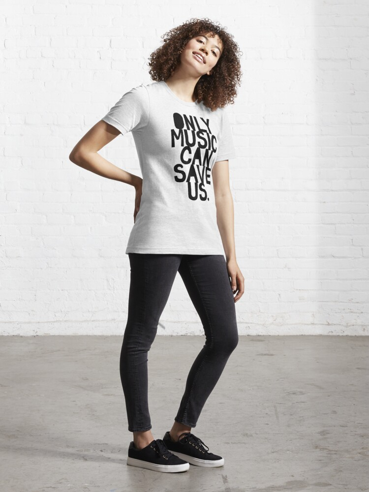 Alternate view of Only Music Can Save Us! Essential T-Shirt