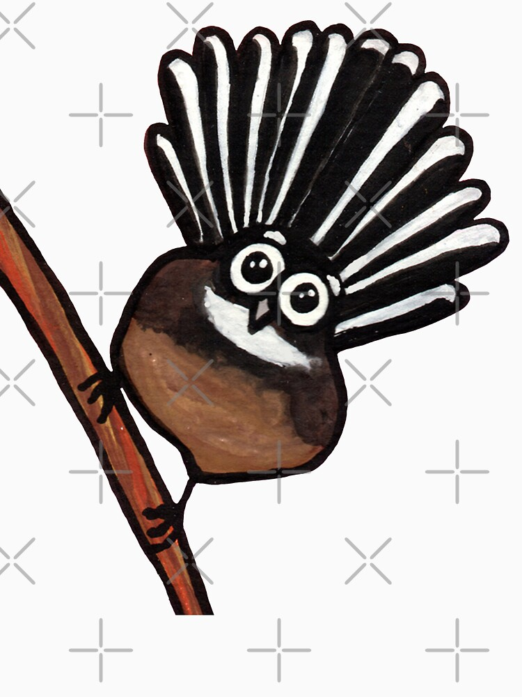 Cute Fantail - clock ft. Te Reo Maori numbers by AdrienneBody