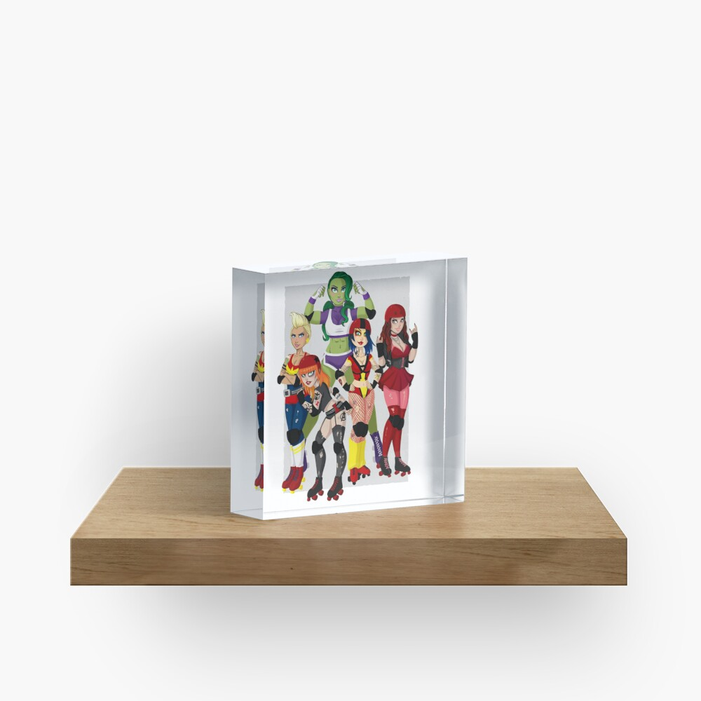 The Avenging Derby Girls Acrylic Block
