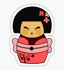 Kokeshi Sakura Sticker