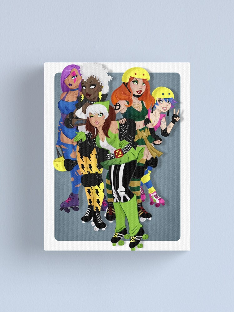 Alternate view of The Uncanny Derby Girls Canvas Print