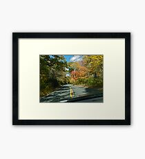 Drive Down Ministerial Road - Fall in Rhode Island Framed Print
