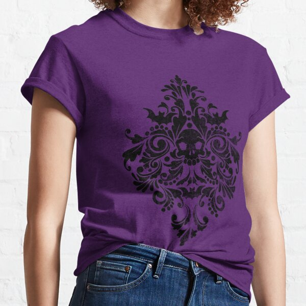 Skull Damask Pattern Classic T-Shirt