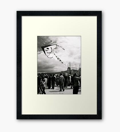 Smile from Above Framed Print