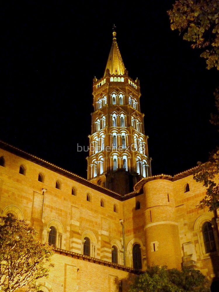 Saint Sernin at night by bubblehex08
