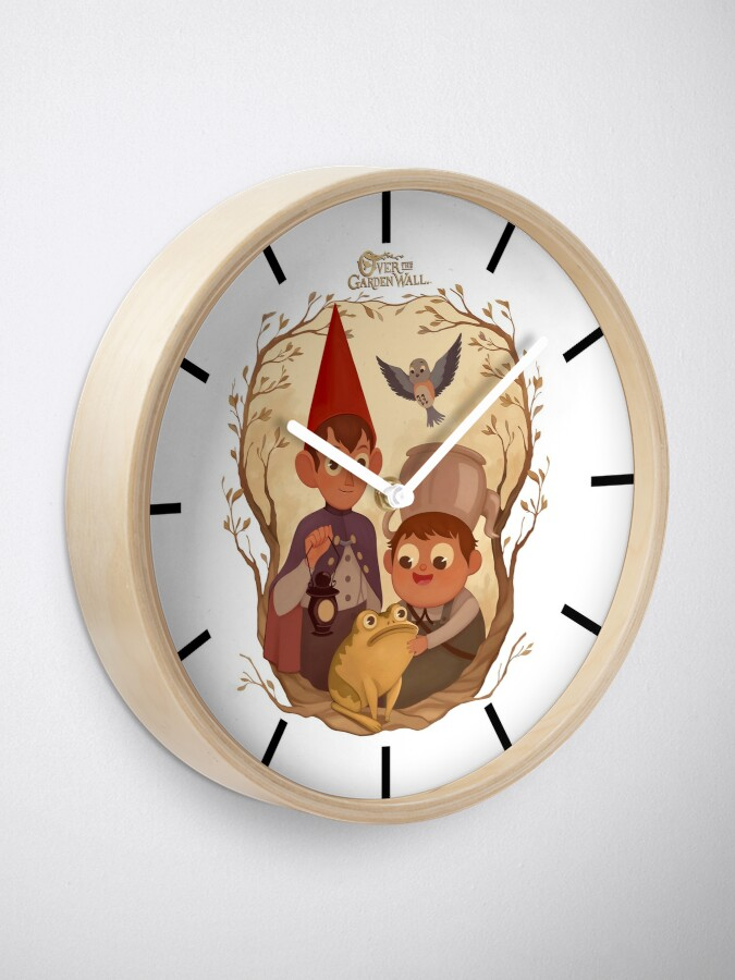Alternate view of Over the garden wall Clock