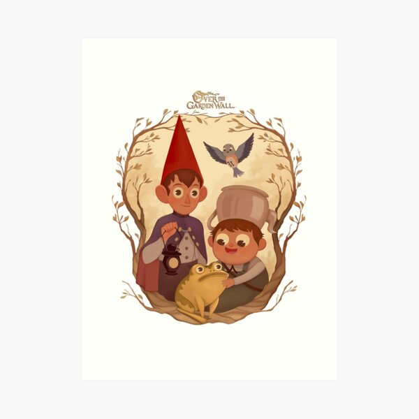Over the garden wall Art Print