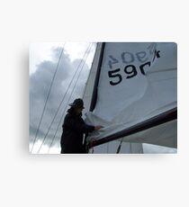 Swedish Sailor Getting the Boat Ready - Gothenburg, Sweden Canvas Print