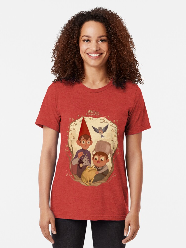Alternate view of Over the garden wall Tri-blend T-Shirt