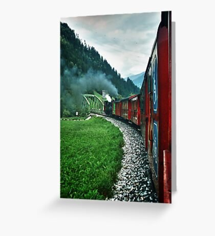 The Zillertal Steam Train Greeting Card