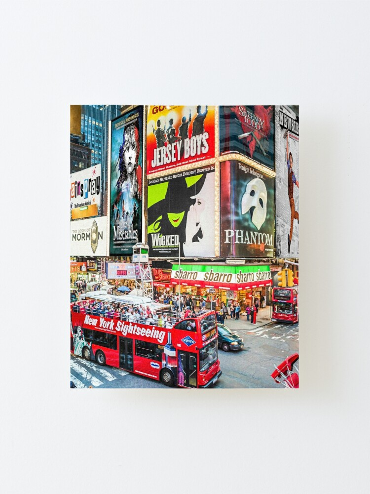Alternate view of Times Square II widescreen Mounted Print