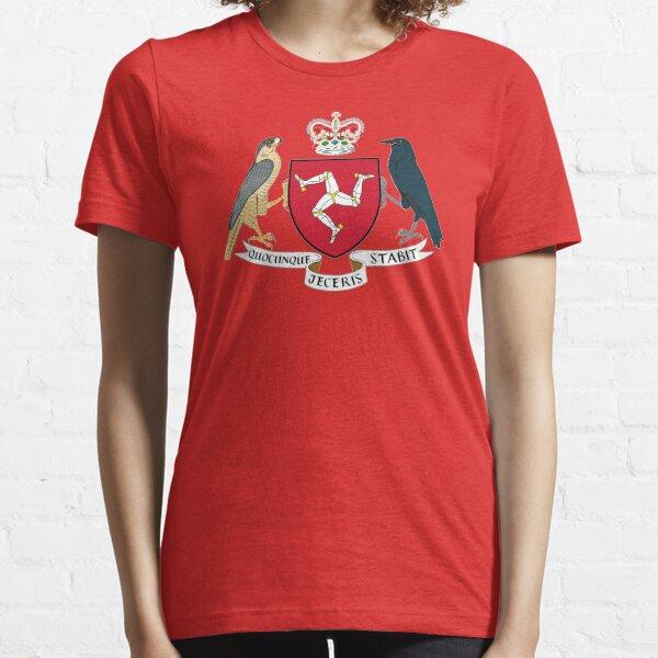 Isle Of Man Flag 3 Legs Of Man Manx Coat Of Arms Celtic Triskelion Essential T-Shirt