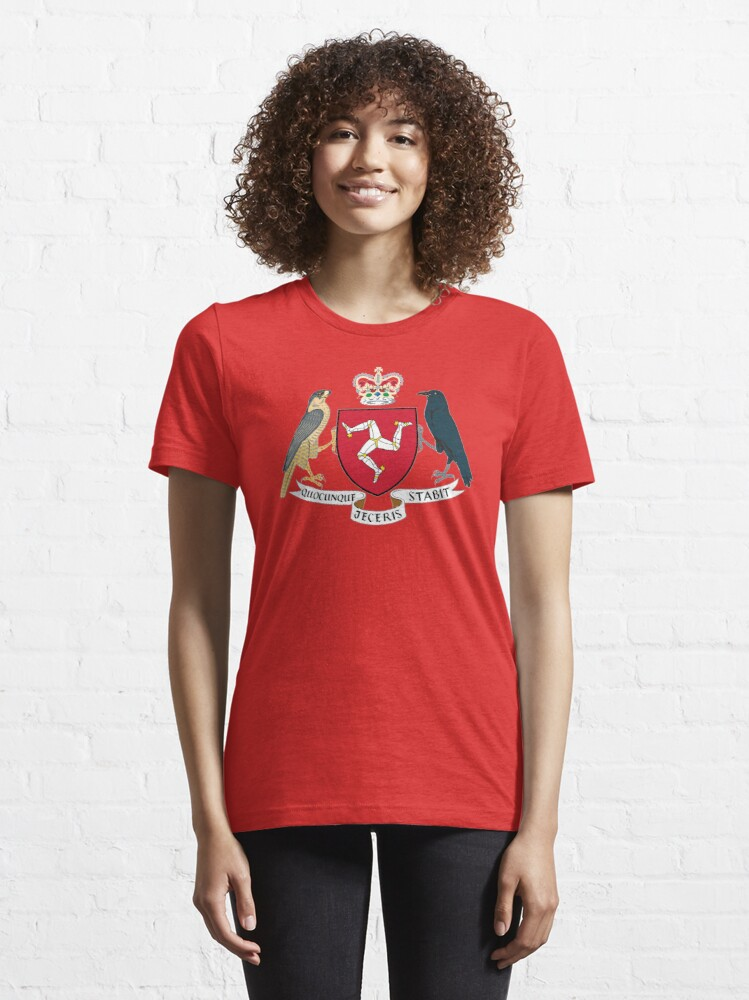 Alternate view of Isle Of Man Flag 3 Legs Of Man Manx Coat Of Arms Celtic Triskelion Essential T-Shirt
