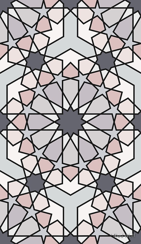 Geometric Pattern: Arabic Tiles: Winter by * Red Wolf