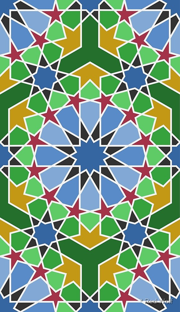 Geometric Pattern: Arabic Tiles: Morocco by * Red Wolf