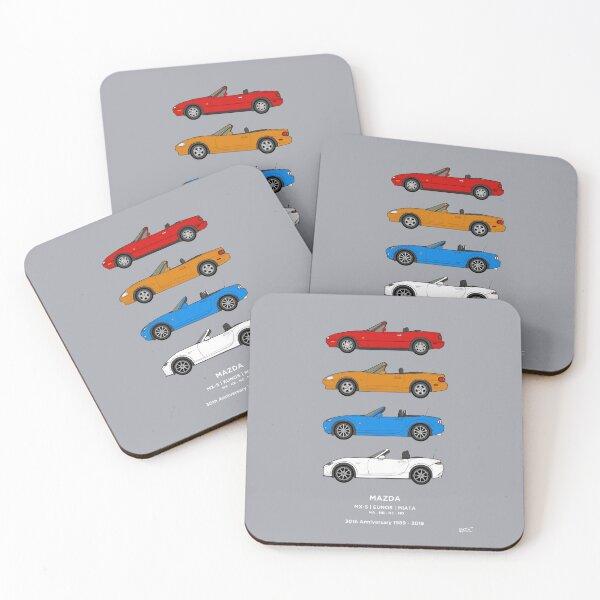 MX-5 / Miata / Eunos 30th Classic Car Collection  Coasters (Set of 4)