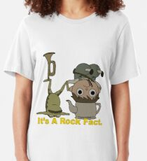 Greg and pet Frog. It's a Rock Fact.  Slim Fit T-Shirt