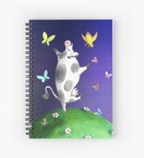 Cow and Bird are best friends Spiral Notebook