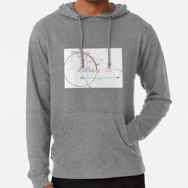 All of the trigonometric functions of an angle θ can be constructed geometrically in terms of a unit circle centered at O. Lightweight Hoodie