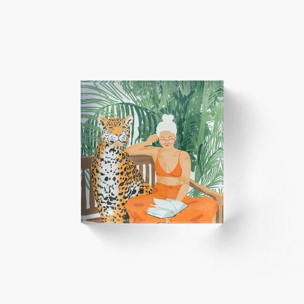 Jungle Vacay II #painting #illustration Acrylic Block