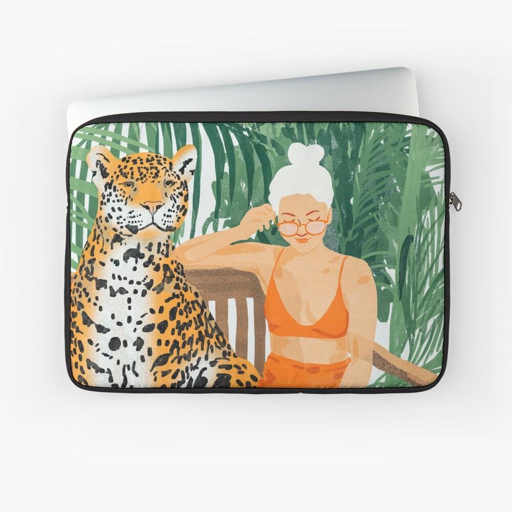 Jungle Vacay II #painting #illustration Laptop Sleeve