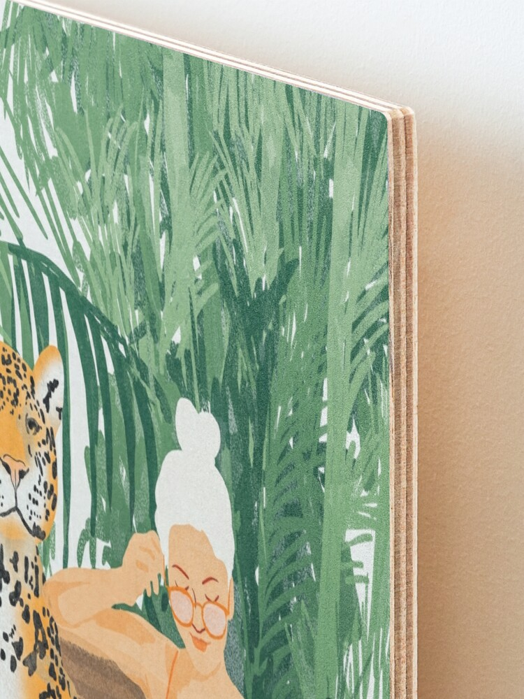 Alternate view of Jungle Vacay II #painting #illustration Mounted Print