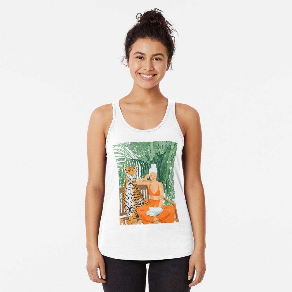 Jungle Vacay II #painting #illustration Racerback Tank Top
