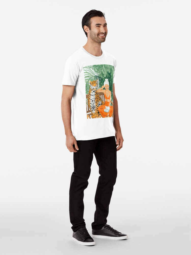 Alternate view of Jungle Vacay II #painting #illustration Premium T-Shirt