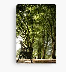 Park Bench Canvas Print