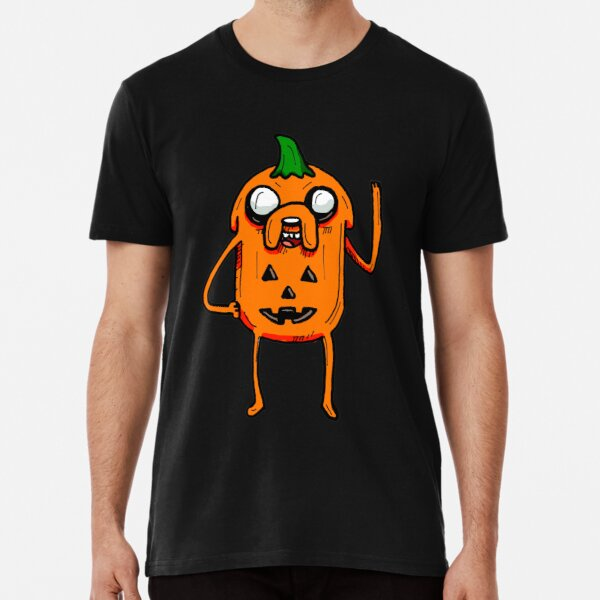 Halloween Jake the Dog from Adventure Time™ as a Jack O Lantern Pumpkin Premium T-Shirt