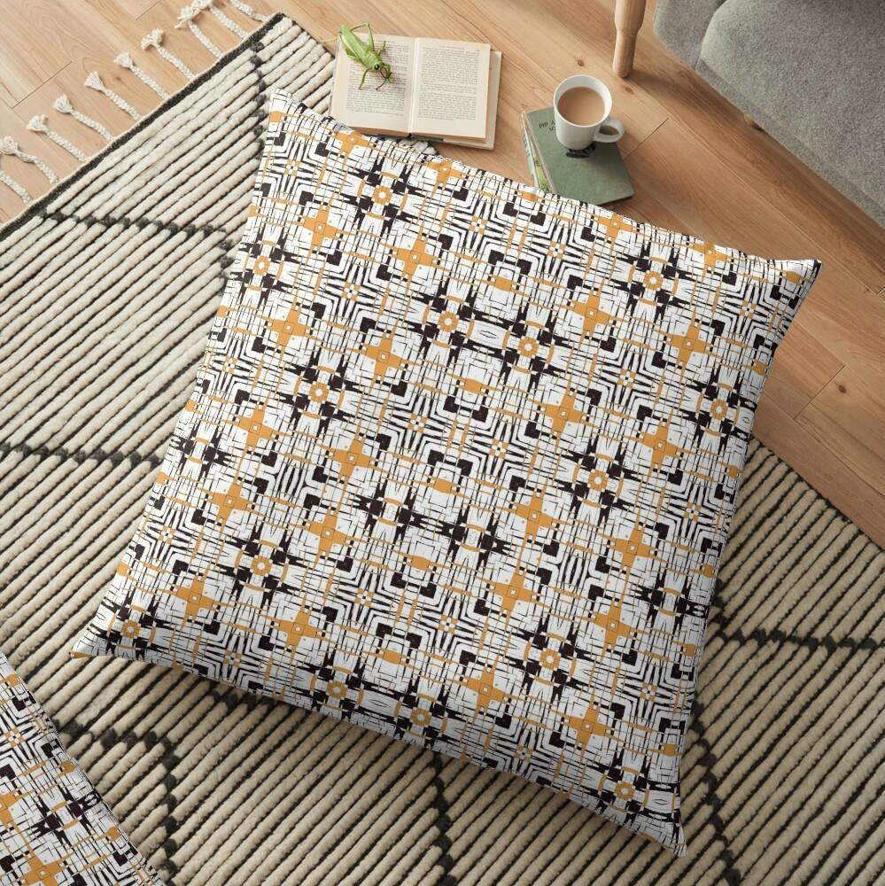 Digital abstract geometric Floor Pillow