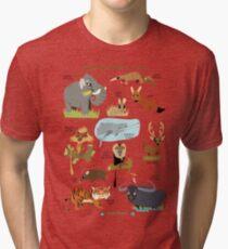 Endangered Mammals of India Tri-blend T-Shirt