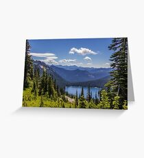 Dewey Lake Mt Rainier National Park Greeting Card
