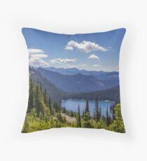 Dewey Lake Mt Rainier National Park Throw Pillow