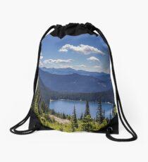 Dewey Lake Mt Rainier National Park Drawstring Bag