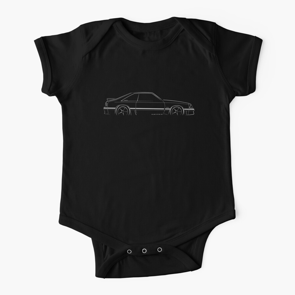 Ford Mustang GT (fox body) - profile stencil, white Baby One-Piece