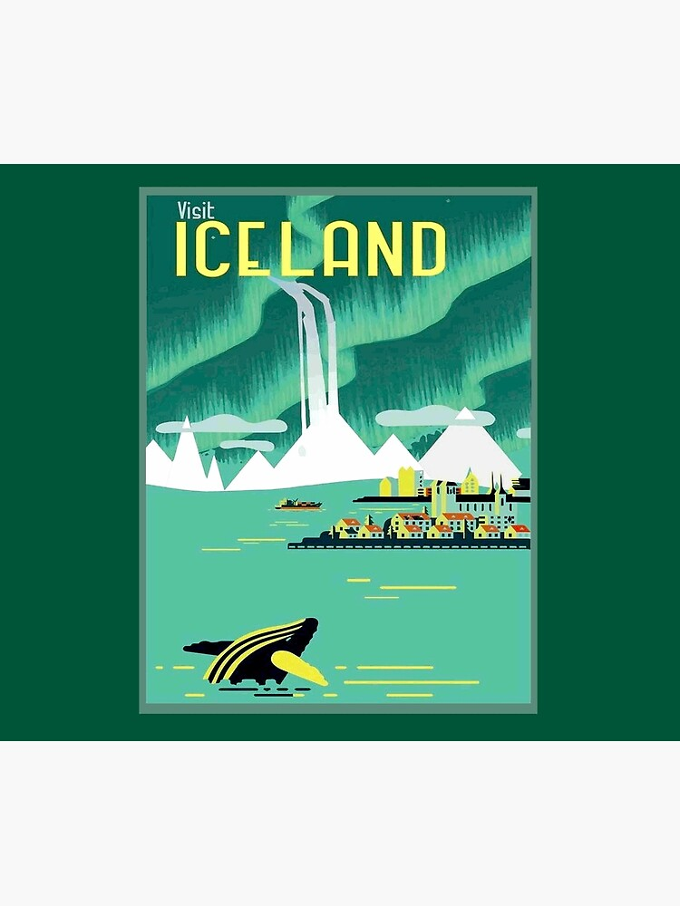 ICELAND : Vintage Travel and Tourism Advertising Print by posterbobs