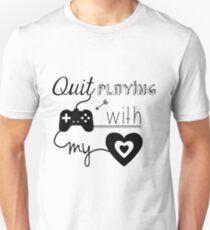 Camiseta ajustada BSB - Deja de jugar juegos con mi corazón ...