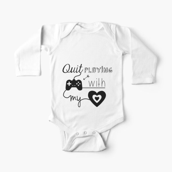 BSB - Quit playing games with my heart... Long Sleeve Baby One-Piece