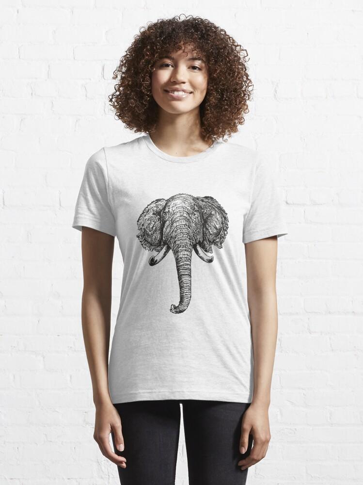 Alternative Ansicht von Elefant Essential T-Shirt